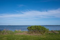 Coastline on the Danish countryside near town of Kalvehave stock images