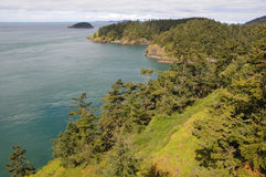 Coastline in deception pass state park Royalty Free Stock Image