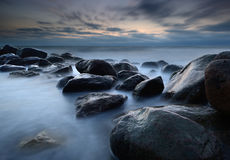 Coastline. In denmark an early morning Stock Images