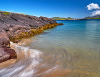 Coastline in Dingle, Ireland. On beautiful days the water on the Dingle beaches is of a deep azure royalty free stock photos