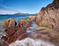 Coastline in Dingle, Ireland. On beautiful days the water on the Dingle beaches is of a deep azure stock image