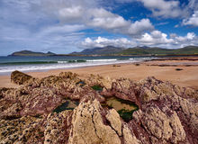 Coastline in Dingle, Ireland. The Dingle coast is characterized by beautiful rock formations stock photography