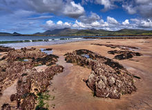 Coastline in Dingle, Ireland. The Dingle coast is characterized by beautiful rock formations royalty free stock images