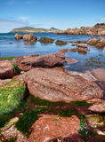 Coastline in Dingle, Ireland. The Dingle coast is characterized by beautiful rock formations Royalty Free Stock Photo