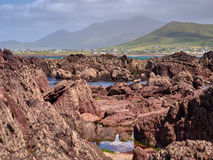 Coastline in Dingle, Ireland. Rocks at Wine Strand, Dingle, Ireland Stock Image