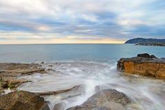 Coastline at dusk Stock Image