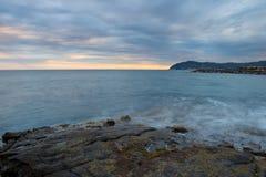 Coastline at dusk Stock Photo