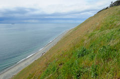 Coastline in ebey's landing Royalty Free Stock Image