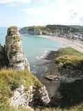 Coastline of english channel beach in Etretat Royalty Free Stock Image