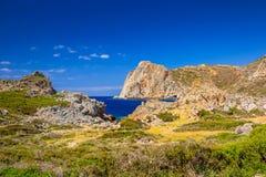 Coastline of Falassarna on Crete Stock Image