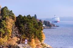 Coastline of fjords Stock Photos
