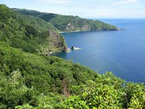 Coastline of Flores Island, The Azores Stock Photos