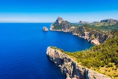 Coastline of the Formentor Peninsula in Mallorca Spain. Coastline of the Formentor Peninsula in Mallorca, Balearic Islands, Spain Royalty Free Stock Image