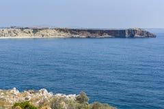 Coastline of Fortaleza de Sagres in Portugal Royalty Free Stock Image
