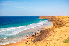 Coastline on Fuerteventura island near El Cotillo village Stock Photo