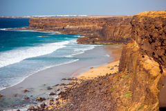 Coastline on Fuerteventura island near El Cotillo village Royalty Free Stock Photo
