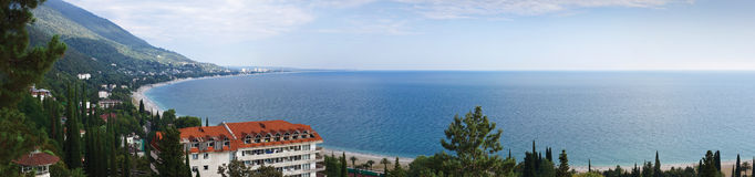 Coastline of Gagra, Abkhazia Royalty Free Stock Image