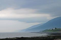The coastline in Gaspe, Quebec Stock Photography