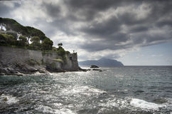 Coastline of Genova Nervi Royalty Free Stock Photos