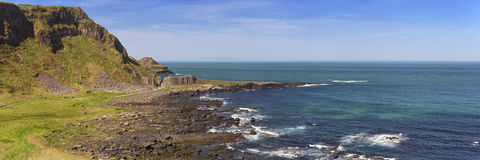 Coastline at Giant's Causeway in Northern Ireland Royalty Free Stock Image