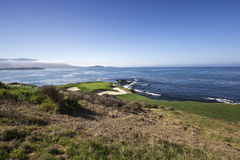 Coastline golf course in california Royalty Free Stock Images