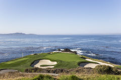 Coastline golf course in california. Coastline golf course with green and fairway in California, usa Royalty Free Stock Photos
