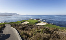 Coastline golf course in California, usa Royalty Free Stock Images