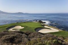 Coastline golf course in California, usa. Coastline golf course, greens and bunkers in California, usa Stock Images