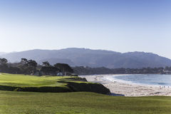 Coastline golf course in California, usa Stock Photography