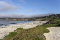 Coastline golf course in California, usa. Coastline golf course, greens and bunkers in California, usa Royalty Free Stock Photos