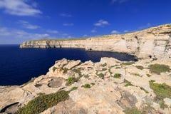 Coastline on Gozo Island. Coastline near Azure Window on Gozo Island, Malta Royalty Free Stock Image