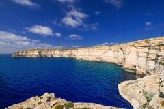Coastline on Gozo Malta. Coastline near Azure Window on Gozo Island, Malta Royalty Free Stock Image