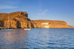 Coastline of Gran Canaria island Royalty Free Stock Images