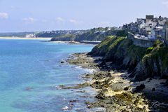 Coastline of Granville in France Stock Photography