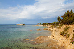 Coastline in Greece Royalty Free Stock Photography