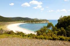 Coastline in Greece Royalty Free Stock Photos
