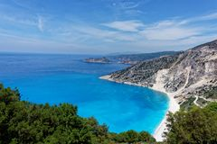 Coastline of Greek Island of Cephalonia. Royalty Free Stock Images