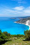 Coastline of Greek Island of Cephalonia. Stock Photos