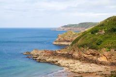 Coastline on Greve de Lecq Beach, Jersey, UK Stock Photo