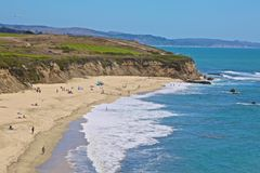 Coastline Half Moon Bay California Royalty Free Stock Photos