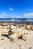 Coastline and high wave at Cape of Good Hope, Cape Town Royalty Free Stock Image