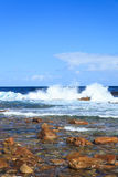 Coastline and high wave at Cape of Good Hope Stock Images