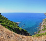 Coastline hike panorama Royalty Free Stock Image