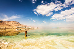Coastline and hotels at the Dead Sea Stock Photography