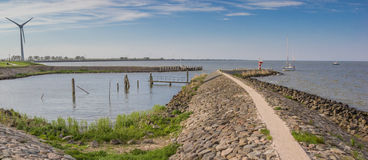 Coastline of the IJsselmeer near Medemblik. Netherlands Stock Photo