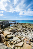 Coastline of Ile Grande in Brittany, Pleumeur Bodou, Côtes d'Armor, France Royalty Free Stock Photography
