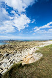 Coastline of Ile Grande in Brittany, Pleumeur Bodou, Côtes d'Armor, France Royalty Free Stock Photo