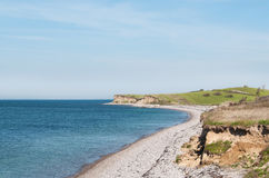 Coastline in the island of Langeland. In the island of Langeland there is a lot of beautiful coastline Royalty Free Stock Image