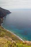 Coastline of island Madeira Royalty Free Stock Image