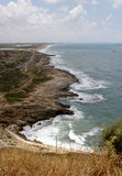 Coastline, Israel. Mediterranean coastline by Israel-Lebanon border Royalty Free Stock Photos